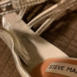 Steve Madden Shoes - Steve Madden Silver Heels